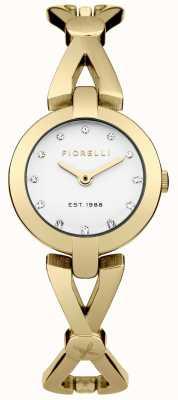 Fiorelli Discagem prata banhado a ouro pvd das mulheres FO003GM
