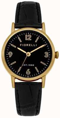 Fiorelli Mostrador preto pulseira de couro preto das mulheres FO015BG
