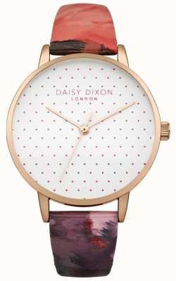 Daisy Dixon Relógio feminino suki rosa lustroso couro DD008PRG