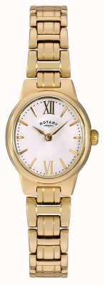 Rotary Discagem branca de ouro para mulher em ouro LB02748/01