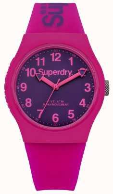 Superdry Cinta de borracha rosa e roxa urbana unisex SYG164PV