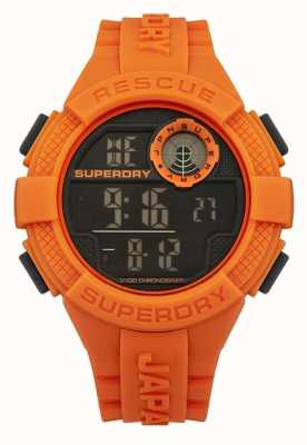 Superdry Rótula digital de borracha laranja digital para homens SYG193O