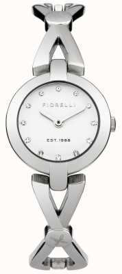 Fiorelli Mostrador branco pulseira de prata das mulheres FO003SM