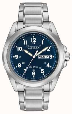 Citizen Gants eco-drive pulseira de esportes de discagem azul AW0050-58L