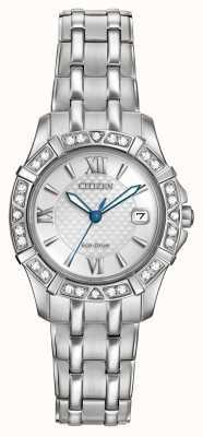 Citizen Eco-drive 28 diamantes de aço inoxidável EW2360-51A