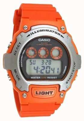 Casio Cronógrafo iluminador unisex de alarme desportivo W-214H-4AVEF