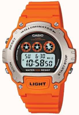 Casio Cronógrafo iluminador unissexo de alarme esportivo W-214H-4AVEF
