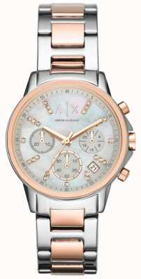 Armani Exchange Relógio de pulseira de dois tons de cronógrafo AX4331