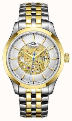 Rotary Estojo banhado a ouro com dois tons para homens GB05033/06