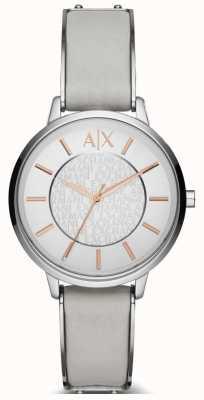 Armani Exchange Senhoras olivia relógio de pulseira de couro AX5311