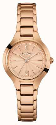 Bulova Acabamento em ouro rosa feminino 97L151