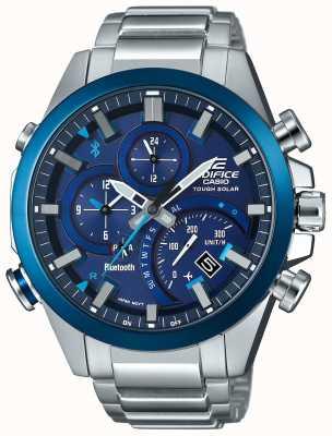 Casio Edifício sincronização bluetooth resistente smartwatch solar azul EQB-501DB-2AMER
