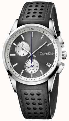 Calvin Klein Mens preto cronógrafo couro preto K5A371C3