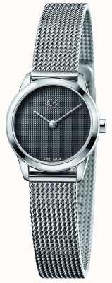 Calvin Klein Mostrador cinza mínimo para mulher K3M2312X