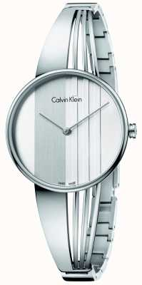 Calvin Klein Disco de prata para deriva das mulheres K6S2N116