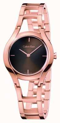 Calvin Klein Relógio de classe feminina dourado dourado K6R2362K