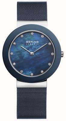Bering | mostrador azul da correia azul das mulheres | 11435-387