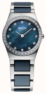 Bering Marinha feminina aço inoxidável 32426-707