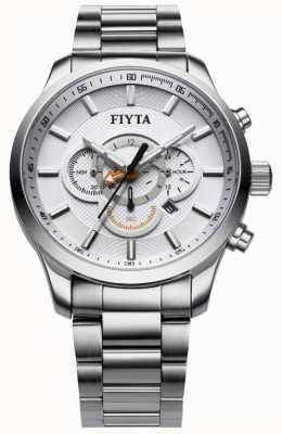 FIYTA Relógio cronógrafo de aço inoxidável G788.WWW