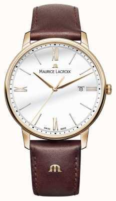 Maurice Lacroix Correia de couro marrom para homens de marca branca EL1118-PVP01-112-1