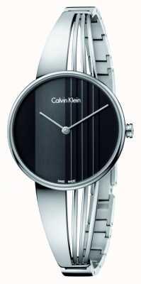 Calvin Klein Relógio de deriva com mostrador preto K6S2N111