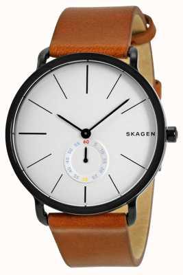 Skagen Relógio de pulseira de couro dos homens hagen SKW6216