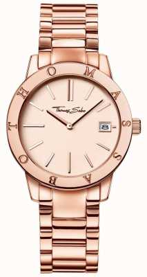 Thomas Sabo Womans rose gold design dial aço inoxidável WA0175-265-208-33