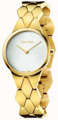 Calvin Klein Pulseira de ouro para mulheres serpente de ouro pulseira de prata K6E23546