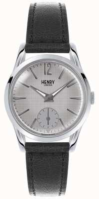 Henry London Cinta de couro cinzento cinza de Womans HL30-US-0073