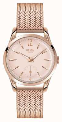 Henry London Bracelete de malha chapeada em ouro rosa subiu HL30-UM-0164