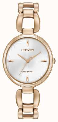 Citizen Pulseira de banhado a ouro rosa pvd EM0423-56A