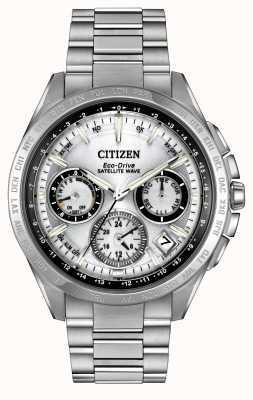 Citizen Onda de satélite de prata eco-drive onda f900 CC9010-74A