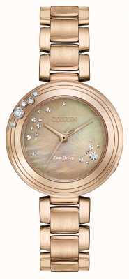Citizen Womens eco-drive seis diamantes banhados a ouro EM0463-51Y