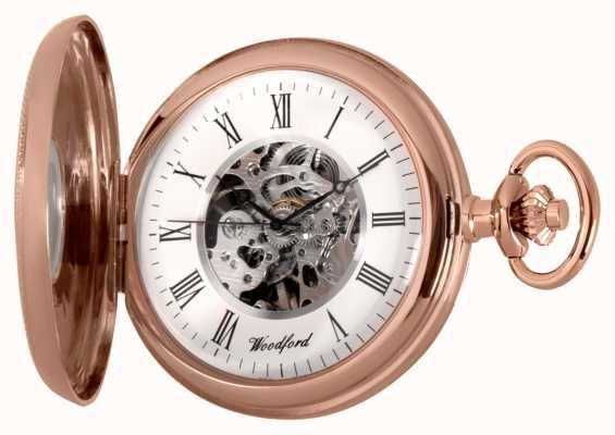 Woodford | meio caçador | ouro rosa | relógio de bolso | 1092
