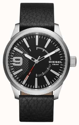 Diesel Bolsa preta de couro preta em preto e branco DZ1766