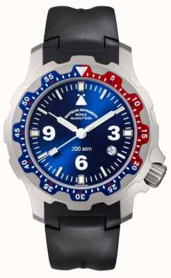 Muhle Glashutte Mens black rubber watch M1-28-82-KB
