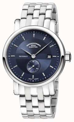 Muhle Glashutte Teutonia ii kleine sekunde aço inoxidável banda night blue dial M1-33-42-MB