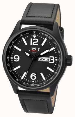 Limit Mens preto piloto cinta preta discagem 5621.01