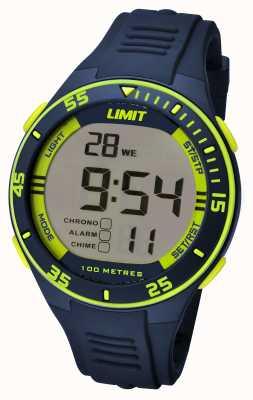 Limit Mens cinta da marinha dial digital 5574.24