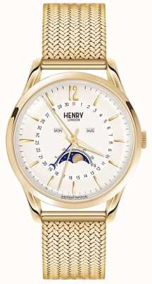 Henry London Mens moonphase ouro pvd banhado HL39-LM-0160