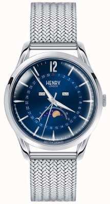 Henry London Mens aço inoxidável moonphase HL39-LM-0085