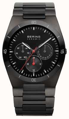 Bering Mens preto ip banhado a discagem preta 32341-792