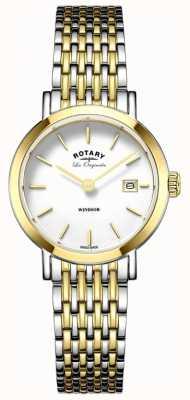 Rotary Alça de metal da mulher windsor dois tons prata ouro LB90154/01