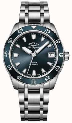 Rotary Womens legacy oceano automático azul dial aço inoxidável LB90168/05
