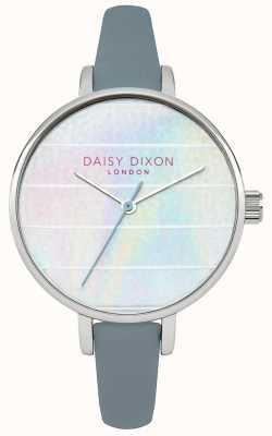 Daisy Dixon Womens kylie pulseira de couro azul mostrador multicolorido DD024US