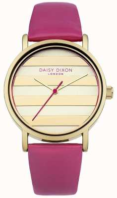 Daisy Dixon Dial de ouro de cinta de couro rosa poppy das mulheres DD009PG