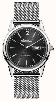 Ingersoll Mens 1892 o novo refúgio de aço inoxidável preto dial I00505