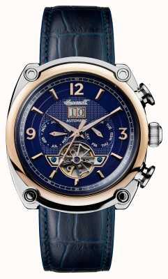 Ingersoll Mens 1892 a pulseira de couro azul michigan azul I01101