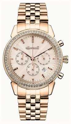Ingersoll Crônica das mulheres a jóia de ouro rosa dial I03904