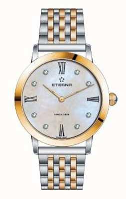 Eterna Womens eternity pulseira dois tom relógio 2720.53.69.1739